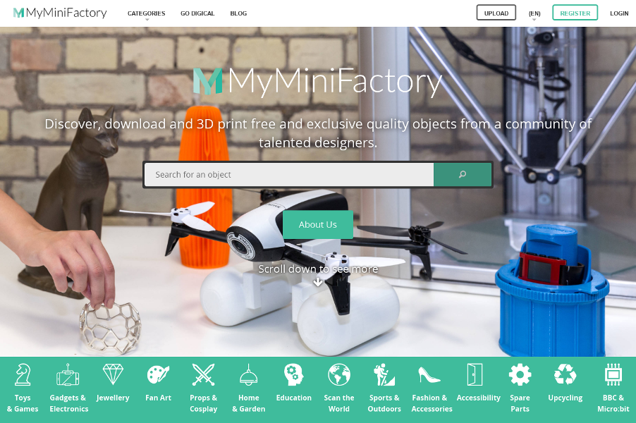 MyMiniFactory - Guaranteed free and paid 3D Printable Files